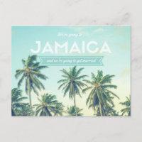 Jamaica Tropical Beach Wedding Save the Dates Announcement Postcard