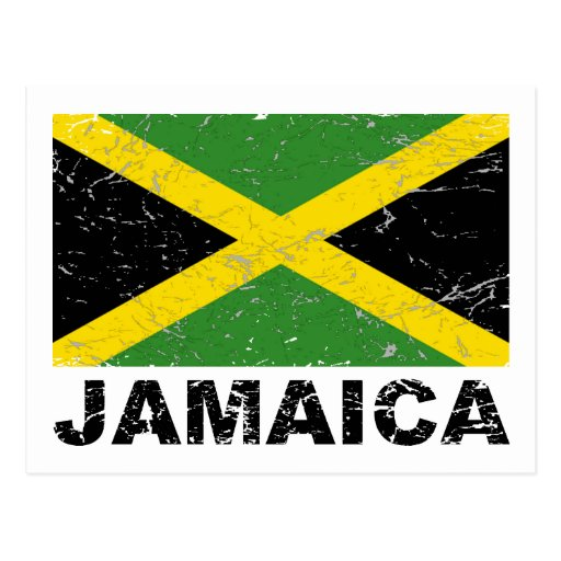 Jamaica Vintage Flag Postcard