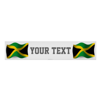 Jamaica Waving Flag Banner Poster