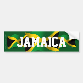 Jamaica Waving Flag Bumper Sticker
