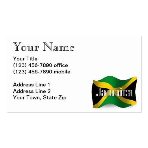 Jamaica Waving Flag Business Card Templates