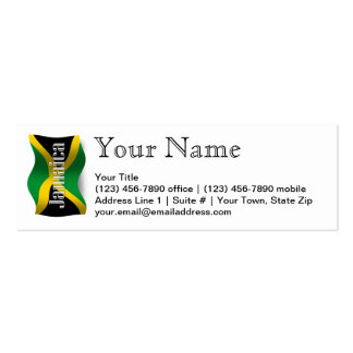 Jamaica Waving Flag Double-Sided Mini Business Cards (Pack Of 20)
