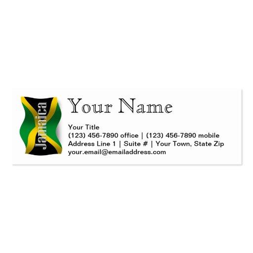 Jamaica Waving Flag Business Card