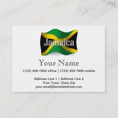 Customizable Jamaica Flag Business Card Zazzle Com