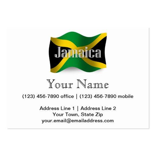 Jamaica Waving Flag Business Cards