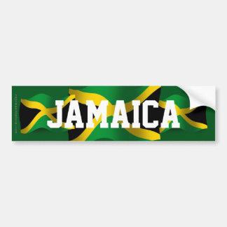 Jamaica Waving Flag Car Bumper Sticker