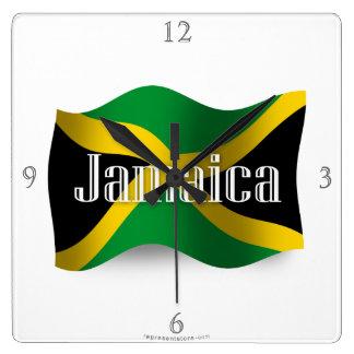 Jamaica Waving Flag Wallclocks