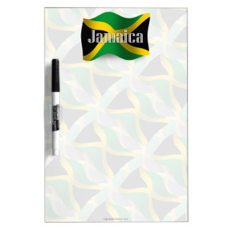 Jamaica Waving Flag Dry-Erase Whiteboard
