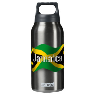 Jamaica Waving Flag Insulated Water Bottle