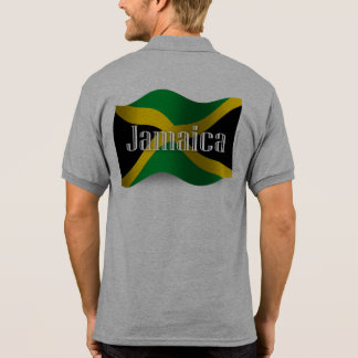 Jamaica Waving Flag Polo T-shirt