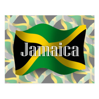 Jamaica Waving Flag Postcard