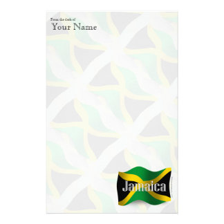 Jamaica Waving Flag Stationery