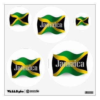 Jamaica Waving Flag Wall Decal