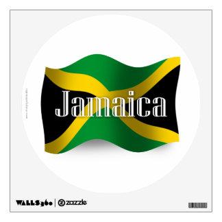 Jamaica Waving Flag Wall Sticker