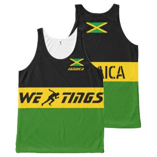 Jamaica we run tings All-Over-Print tank top