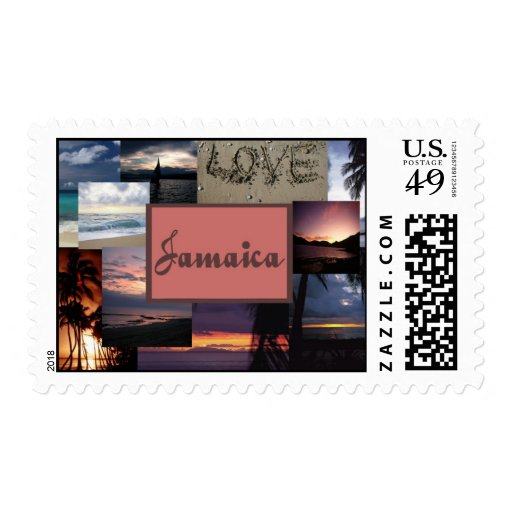 Jamaica Wedding collage stamps