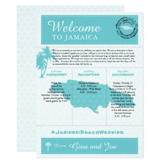 Jamaica Wedding Weekend Welcome Card