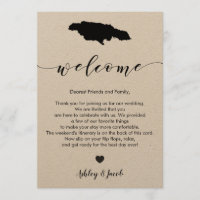 Jamaica Wedding Welcome Letter & Itinerary Program