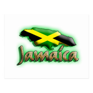 Jamaica with gold title post cards