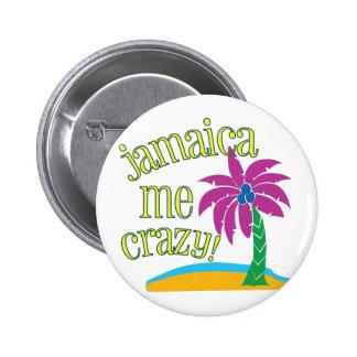 Jamaica yo loco pin redondo de 2 pulgadas