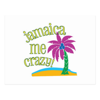 Jamaica yo loco tarjeta postal