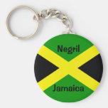 JamaicaFlag, Negril, Jamaica Llavero Redondo Tipo Pin