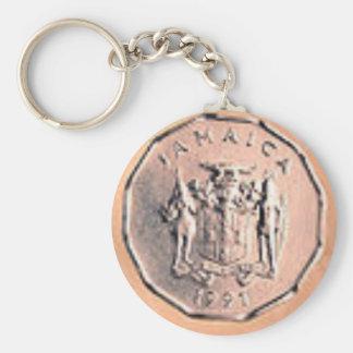 Jamaican 1 Cent Coin Keychain