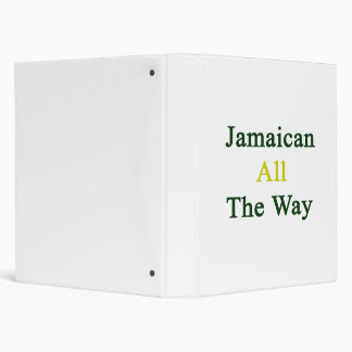 Jamaican All The Way 3 Ring Binders