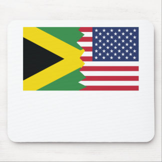 Jamaican American Flag Mouse Pad