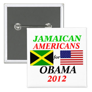 Jamaican americans for Obama Pinback Button