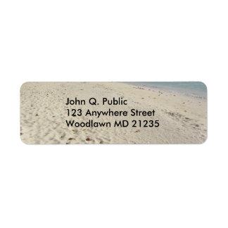 Jamaican Beach Background Address Label
