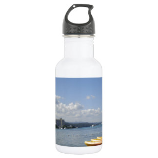 Jamaican Beach with boat 18oz Water Bottle