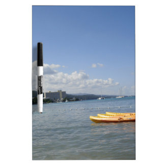 Jamaican Beach with boat Dry-Erase Whiteboards