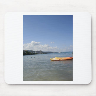 Jamaican Beach with boat Mouse Pad