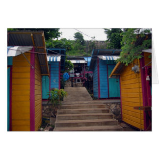 jamaican buildings card
