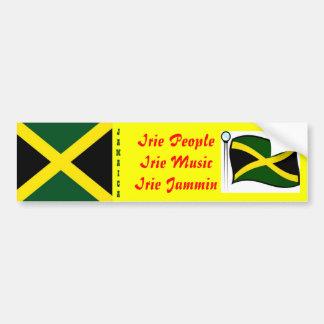 Jamaican  bumper stickers-irie people car bumper sticker