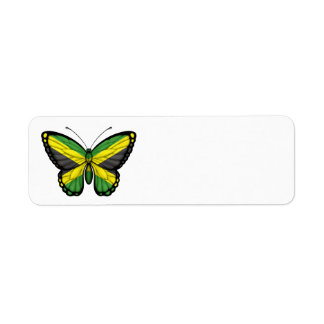 Jamaican Butterfly Flag Return Address Label