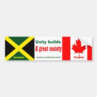 jamaican canadian bumper sticker