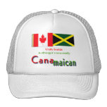 jamaican-canadian roots mesh hat