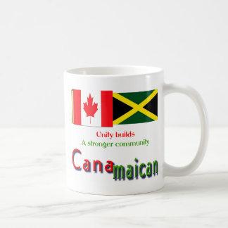 jamaican-canadian roots classic white coffee mug