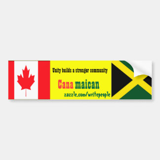 Jamaican-canadian unity bumper stickers