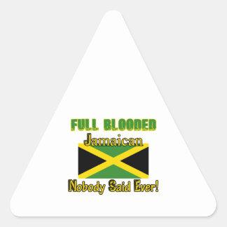 Jamaican citizen design triangle sticker
