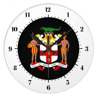 Jamaican coat of arms large clock