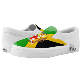 Jamaican flag canvas shoes printed shoes zazzle jamaican coat of arms slip on sneakers voltagebd Gallery