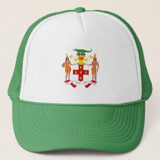 Jamaican coat of arms trucker hat