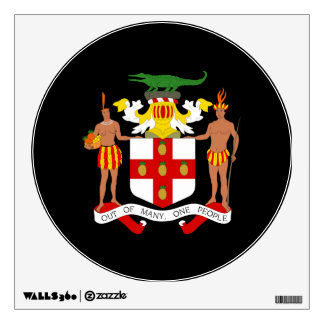 Jamaican coat of arms wall decal