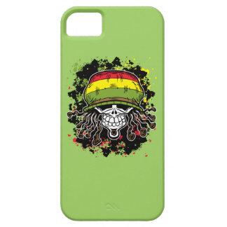 Jamaican Corn Rolls Hair Skull Paint Splashes iPhone SE/5/5s Case