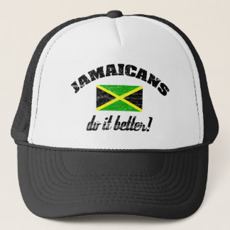 Jamaican do it better trucker hat