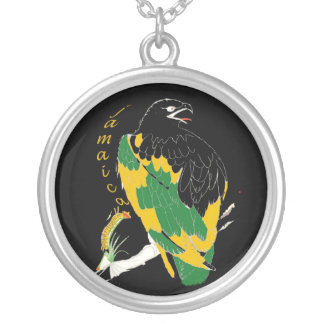 Jamaican Eagle Silver Necklace