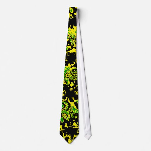 Jamaican Flag Abstract  Mens Tie